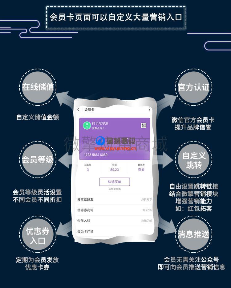 【微信公众号】竹鸟微信原生会员卡V2.0.0全开源解密源码打包 第1张